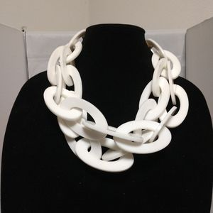 White Statement Necklace | White Chunky Necklace |
